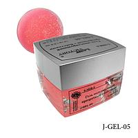 Гель цветной с блестками Lady Victory J-GEL-05 - 14 г (Розовый),