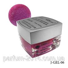 Гель цветной с блестками Lady Victory J-GEL-06 - 14 г (Неоновый розовый),