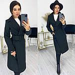 Женское пальто, кашемир, р-р С-М; Л-ХЛ (чёрный), фото 2