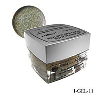 Гель цветной с блестками Lady Victory J-GEL-11 - 14 г (Бронза),