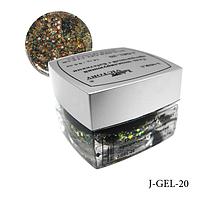 Гель цветной с блестками Lady Victory J-GEL-20 - 14 г (Серый голографический),