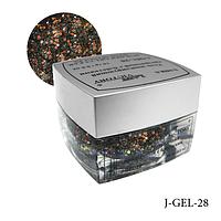 Гель цветной с блестками Lady Victory J-GEL-28 - 14 г (Черное золото),