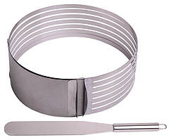 Форма Kamille для нарезки бисквита 15-20см, регулируемая с ножом