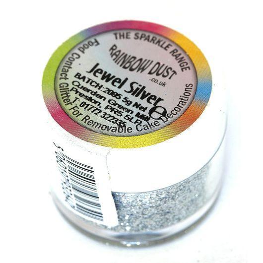 Блестки Rainbow Jewel Silver