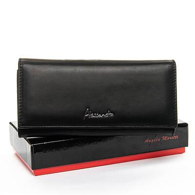 Классический кожаный женский кошелек ALESSANDRO PAOLI W1-V black