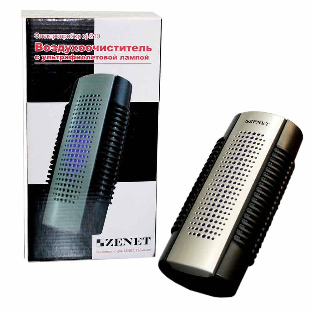 Ионный очиститель воздуха с ультрафиолетовой лампой УФ ZENET XJ-210