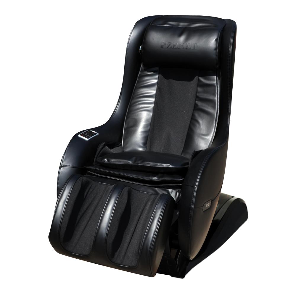 Массажное кресло с подогревом черный ZENET ZET-1280