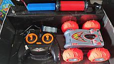 Машинка на радио управлении перевёртыш вездеход оранжевый surmount с насосом, фото 3