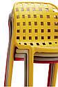 Стілець пластиковий суцільнолитий жовтого кольору Gari для громадських місць, кафе, відкритих майданчиків, дач, фото 3