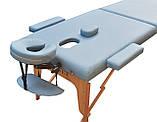 Массажный стол универсальный складной. Голубой, размер L (195*70*61). ZENET ZET-1042, фото 2