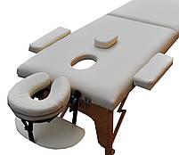 Массажный стол мобильный. Кремовый, размер М (185*70*61). ZENET ZET-1042, фото 2