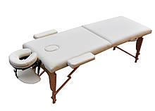 Массажный стол раскладной деревянный. Кремовый, размер L (195*70*61). ZENET ZET-1042
