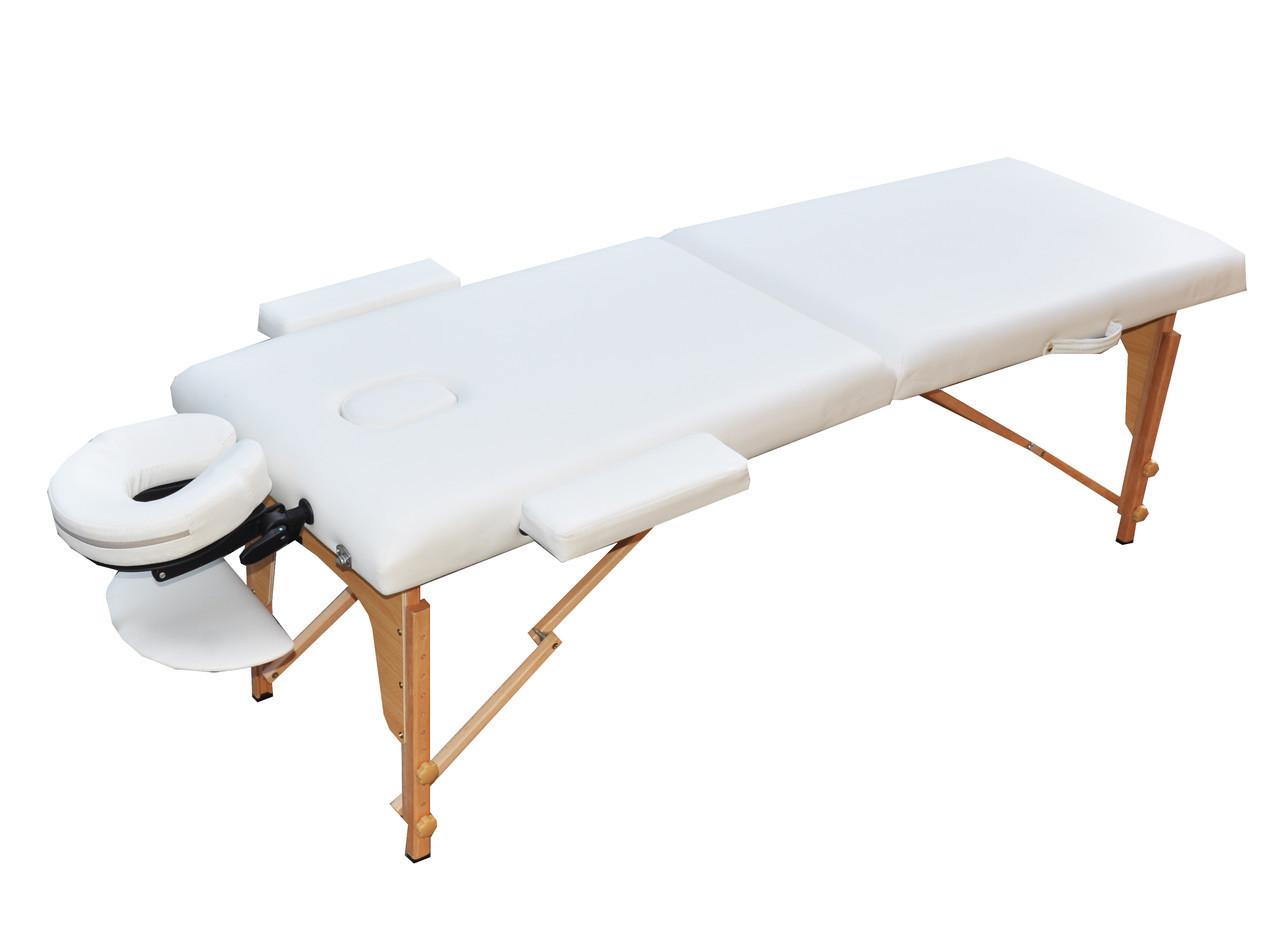 Масажний стіл розкладний. Білий, розмір S (180*60*61). ZENET ZET-1042