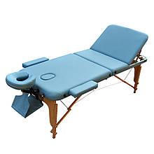 Массажный стол для СПА. Голубой, размер М (185*70*61). ZENET ZET-1047