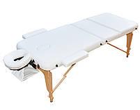 Массажный стол трехсекционный. Белый, размер М (185*70*61).  ZENET ZET-1047, фото 2