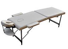 Складной массажный стол. Кремовый, размер L (195*70*61). ZENET ZET-1044