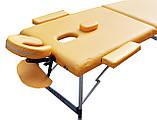 Массажный стол с регулировкой высоты. Песочный, размер М ( 185*70*61). ZENET ZET-1044, фото 2