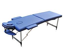 Массажный стол складной двухсекционный. Темно-синий, размер S ( 180*60*61). ZENET ZET-1044
