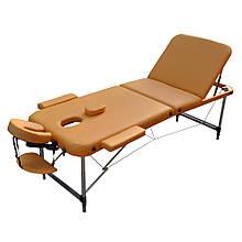 Массажный стол с вырезом для лица. Песочный, размер L ( 195*70*61) ZENET ZET-1049