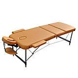 Массажный стол с вырезом для лица. Песочный, размер L ( 195*70*61) ZENET ZET-1049, фото 2