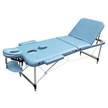 Массажный стол складной небесно-голубой ZENET ZET-1049 размер M ( 185*70*61)
