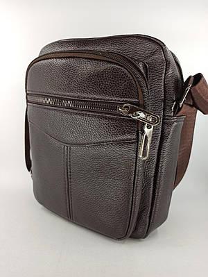 Мужская кожаная сумка планшет через плечо 1238