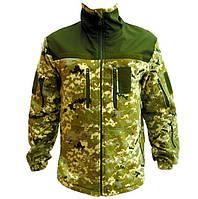 Кофта військова чоловіча флісова Тактична кофта ZaMisto Поліестер Камуфляж (ЗМ zm_jacket) 44-46, фото 1