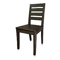 """Стілець """"Промо"""", коричневий (горіх), бук, з твердим сидінням"""