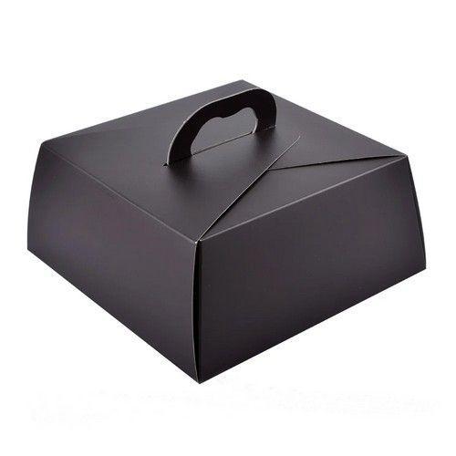 Коробка для торта Чёрная 25х25х11 см
