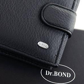 Кошелек мужской кожаный с откидными блоками для карт Dr. Bond M2 черный, фото 2