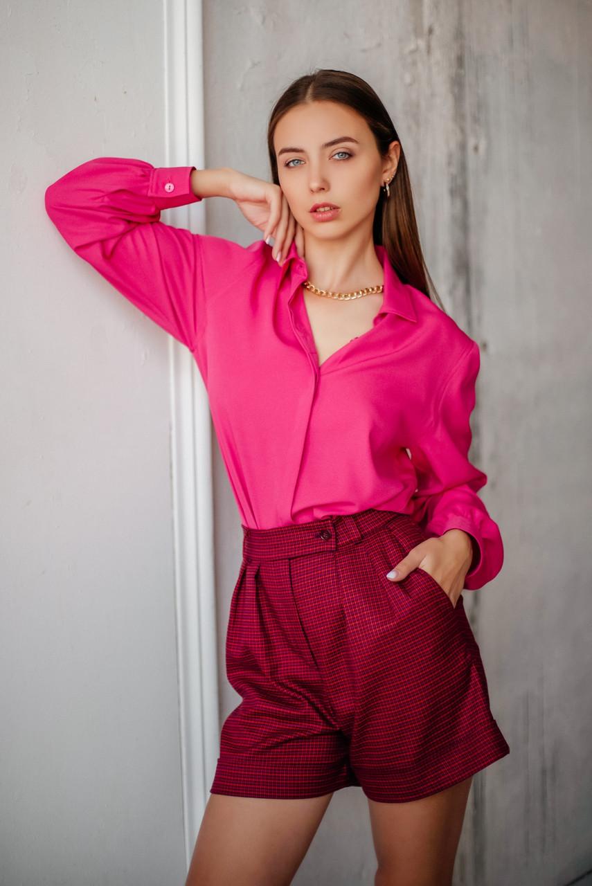 Классическая женская блузка из крепа