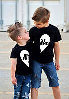 "Парні футболки Push IT Family Look з принтом ""Best friend"""