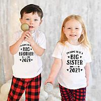 "Парні футболки Push IT Family Look з принтом ""Big brother and Big sister"""