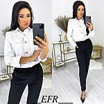Женские брюки, креп - диагональ, р-р С-М; Л-ХЛ (чёрный), фото 2