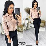 Женские брюки, креп - диагональ, р-р С-М; Л-ХЛ (чёрный), фото 3