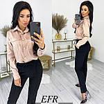 Женские брюки, креп - диагональ, р-р С-М; Л-ХЛ (чёрный), фото 5
