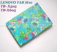Бирюзовый чехол с рисунком для девушки на Lenovo Tab M10 HD tb-x505L X505F X605L