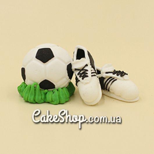 Сахарные фигурки Мяч и бутсы черные
