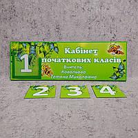 Табличка для младших классов с кармашком и вставками, фото 1