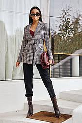 Жіночий піджак із поясом (в кольорах)