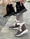 Ботинки женски зимние замшевые бежевые U Spirit, фото 4