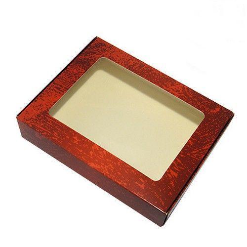 Коробка для пряников Красный потертый, 192*148*40 мм