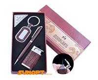 Подарочный набор брелок,ручка,зажигалка (Острое пламя) AL-009