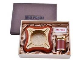 Подарочный набор Pioneer 2в1 пепельница и зажигалка №3619