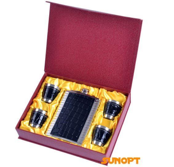 Подарочный набор с флягой (Кожа) №GT-18-3