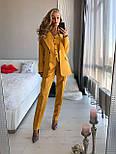 Женский брючный классический костюм-тройка: пиджак, жилет и брюки (в расцветках), фото 8