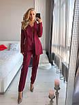Женский брючный классический костюм-тройка: пиджак, жилет и брюки (в расцветках), фото 5