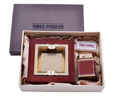 Подарочный набор Pioneer 2в1 пепельница и зажигалка №3623