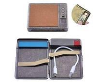 Портсигар подарочный с USB зажигалкой (Спираль накаливания, 20 сигарет) №HL-8001-3