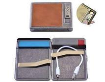 Портсигар подарочный с USB зажигалкой (Спираль накаливания, 20 сигарет) №HL-8001-2